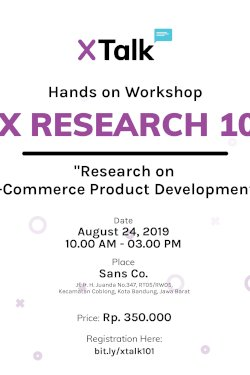 UX RESEARCH 101 : Research on E-Commerce Product Develpment